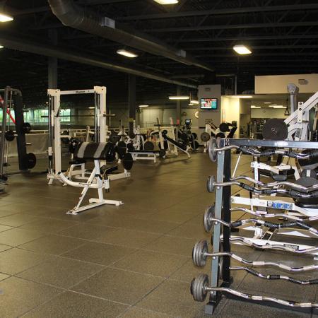 Bloomington Fitness center - Third Floor - Free Weight area
