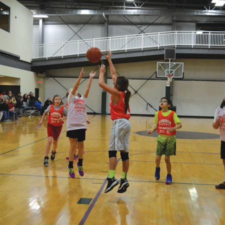 Bloomington Fitness - BYB girls ball in air - fall 2014
