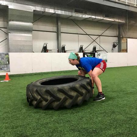 Bloomington Local Fitness Center - Turf Field Tire Flip