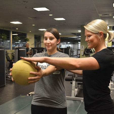 Bloomington Personal Workout Trainer - Megan with ball