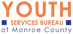Youth Basketball Sponsor Logo for Monroe County Youth Services Bureau